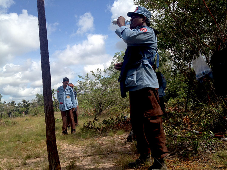 landmine clearing officer cambodia