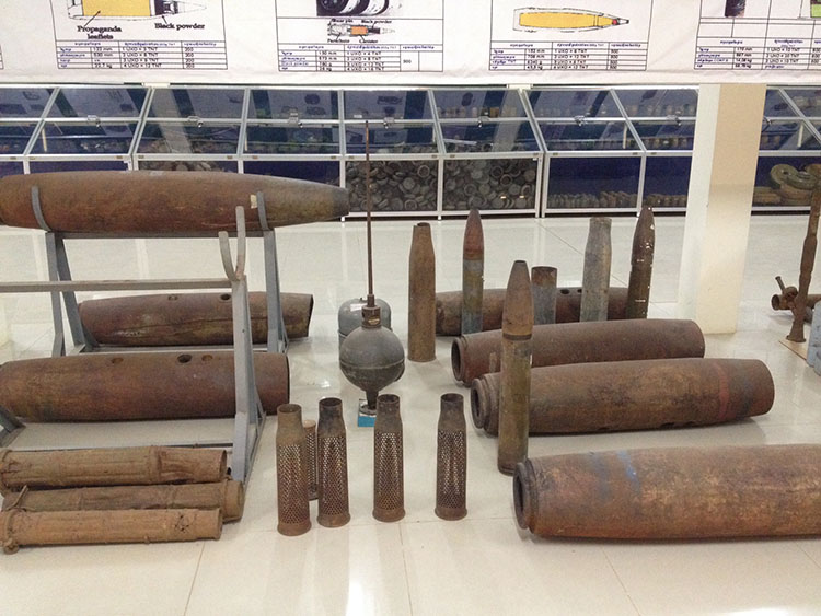landmine exhibition