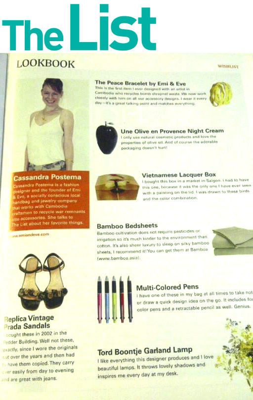The List magazine article