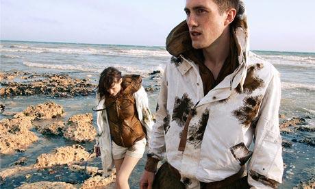 model wearing christpoher raeburn jacket
