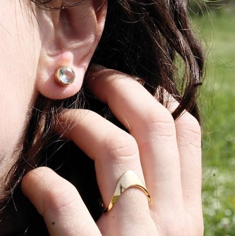 Unity earring topaz