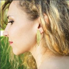 juno hammered earrings