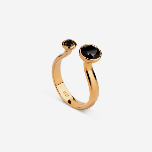 Two stone ring onyx