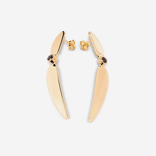 River earrings onyx