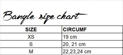 bangle size chart